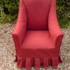 Small loosecovered chair with box pleated pelmet. Special commission.