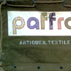 Textile Banner, using army marquee canvas, vintage textiles and my dad's old army stencilling kit!